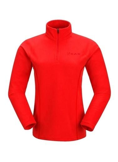 2AS 2AS Price Yarım Fermuarlı Kadın Polar Kırmızı